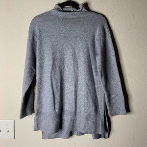 Anthropologie moth grey cowl neck sweater